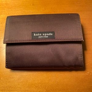 Kate Spade brown silk wallet